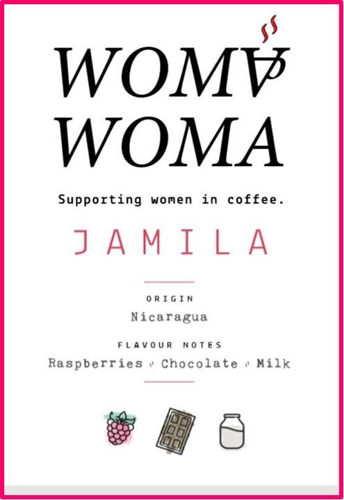 Jamila Women Only Grown Nicaraguan label