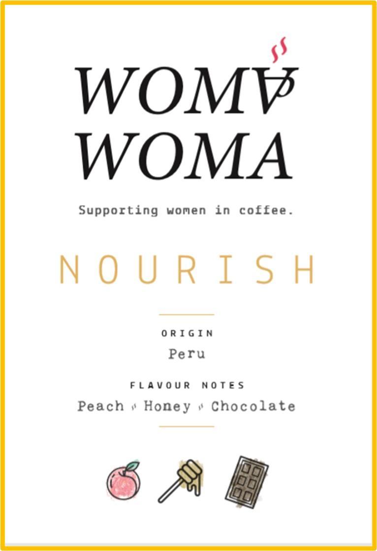 Nourish Single Origin Peru Label