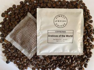 Arabicas of the world coffee bag