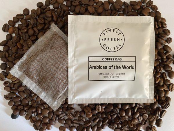 Arabicas of the world coffee bag