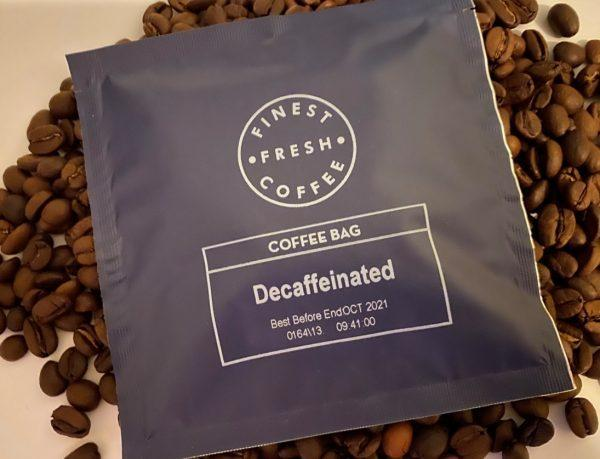 decaf coffee bag