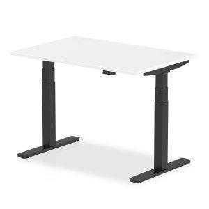 Height adjustable desk white